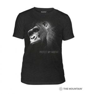 t-shirt gorille noir blanc blakc white gorilla shirt photo photographe photographe animalière