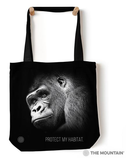 sac gorille noir et blanc photo photographie animalière animaux wild tote bag