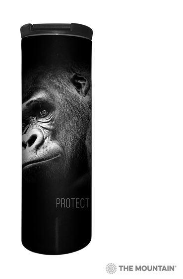 mug gorille noir et blanc photo photographie animaux en danger