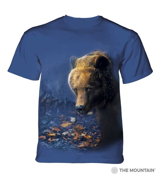 t-shirt ours bear blue bleu portrait photo vetement photographie wild sauvage animal animaux