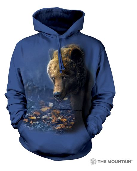 sweat capuche veste hoodie bear ours portrait photo vêtement clothes wild animal photographie animalière
