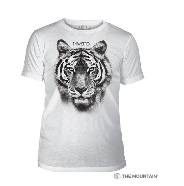 t-shirt blanc tigre portrait photo photographie anima sauvage wolf protection protect en danger