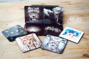 boite,metal,photo,iamge,chat,animal,personnalisé,original,unique,cadeau,idée, animaux, panda,mignon, dessous de verre, sous bock